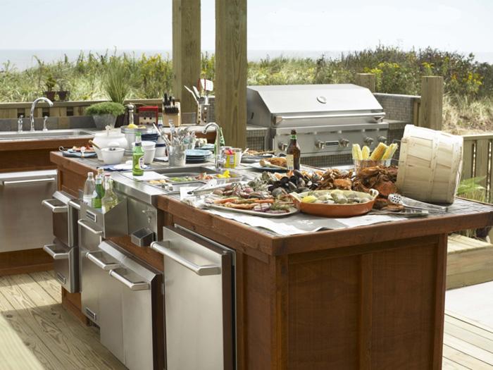 Casas minimalistas y modernas cocinas para exterior for Diseno de cocina para exteriores
