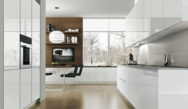 Casas minimalistas y modernas las cocinas val design for Cocinas diseno blancas