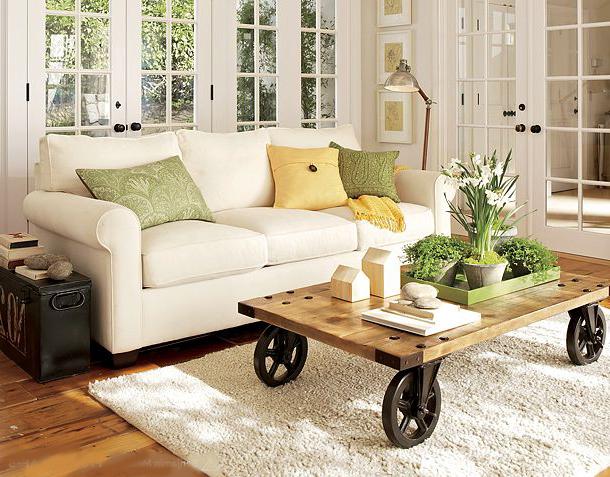 Estilo rustico mesas ratonas rusticas for Mesas de madera rusticas