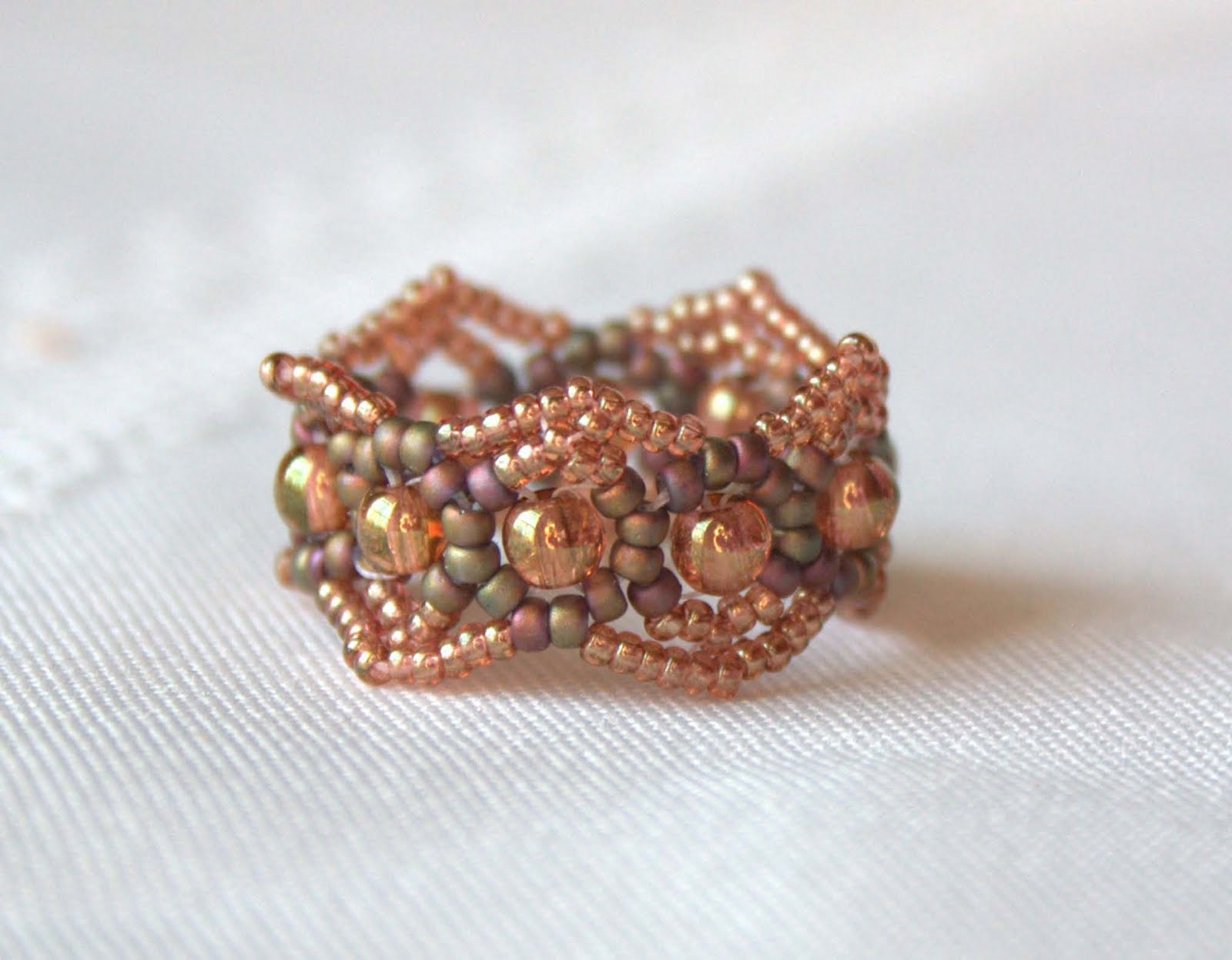 with sunset rings beyouteous ring by tropical beaded asymetrical pearl collections cocktail beyouteus embellishment handcrafted