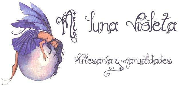 Mi luna violeta Artesanía y manualidades