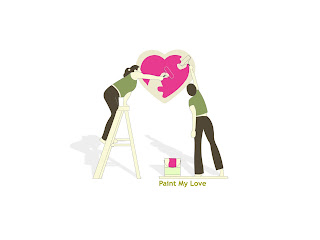 Paint My Love Wallpaper