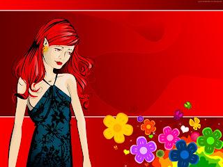 Girl in Love Wallpaper