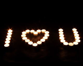 Candle I love U Sign Wallpaper