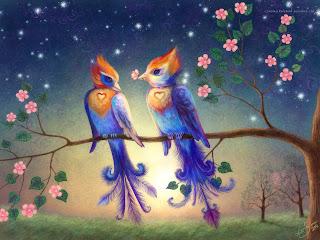 Wall paper ภาพฉากหลังสวยๆๆ Birds-in-Love