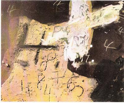 dodo TAPIES+Ocre,+marron+et+blanc+aux+quatre+1972
