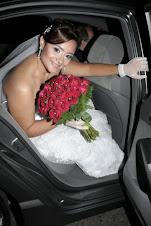 Fabi  vestida de noiva