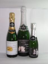champagnes de 660 ml, 375 ml e 187 ml