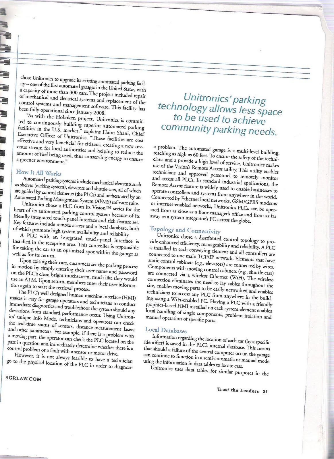unitronics international patent process