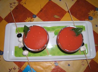 Gazpacho de sandía / Gaspacho de pastèque