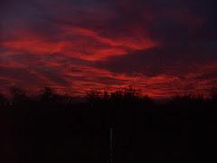 cielo rojo.