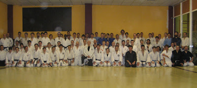 Photo de groupe du kangeiko 2009  Saragosse