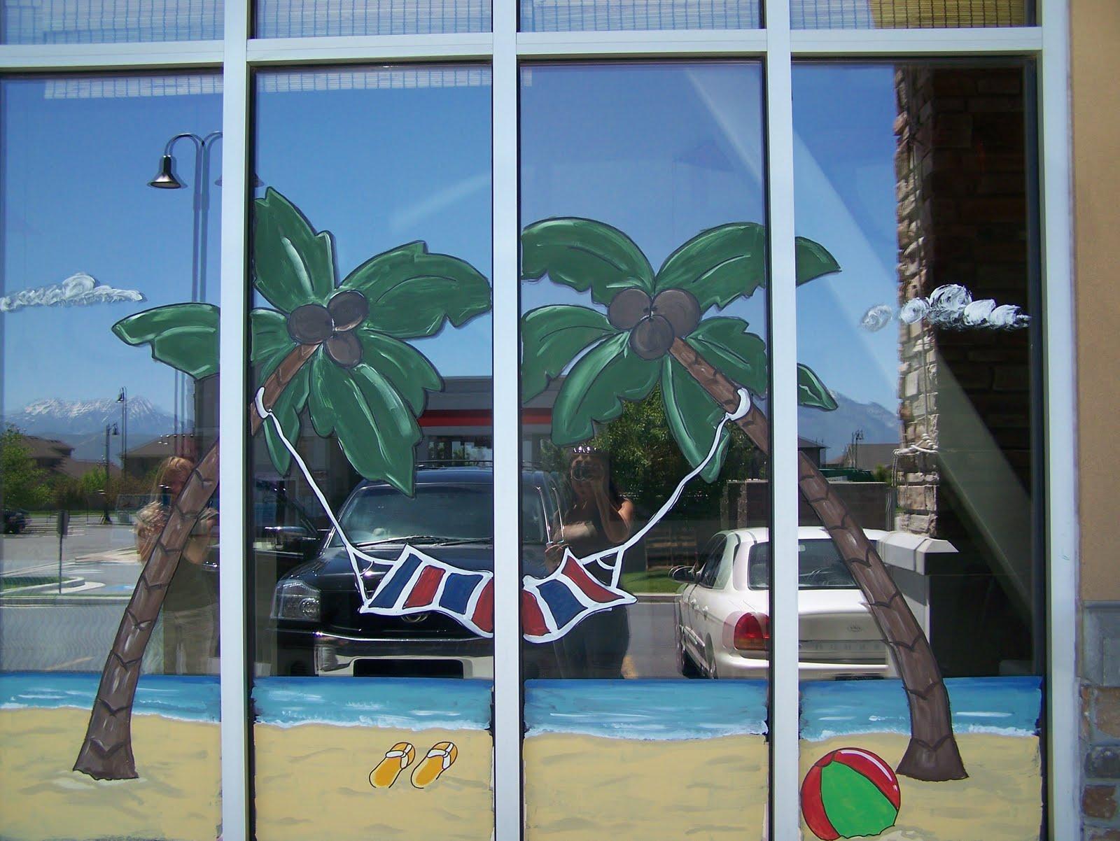 & Bawden Fine Murals: window painting/ seasons SpringSummer Fall etc.
