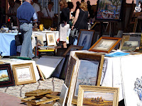 Monday is antiques and bric a brac day at the Cours