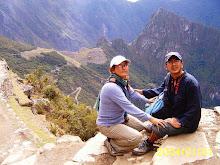 con Ligia en Machu Picchu