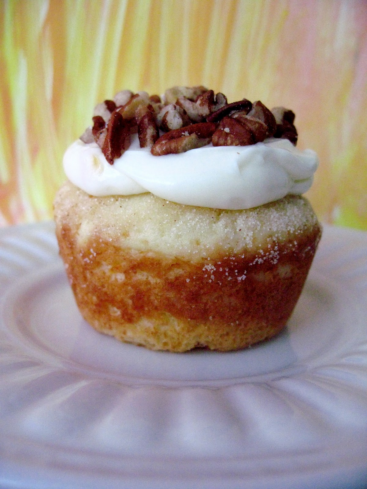Orange Muffins Cupcakes With Cream Cheese Topping Your