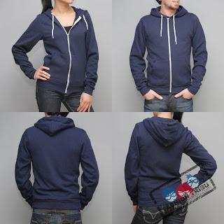 American Apparel Gilet_zip_capuche_american_apparel_marine