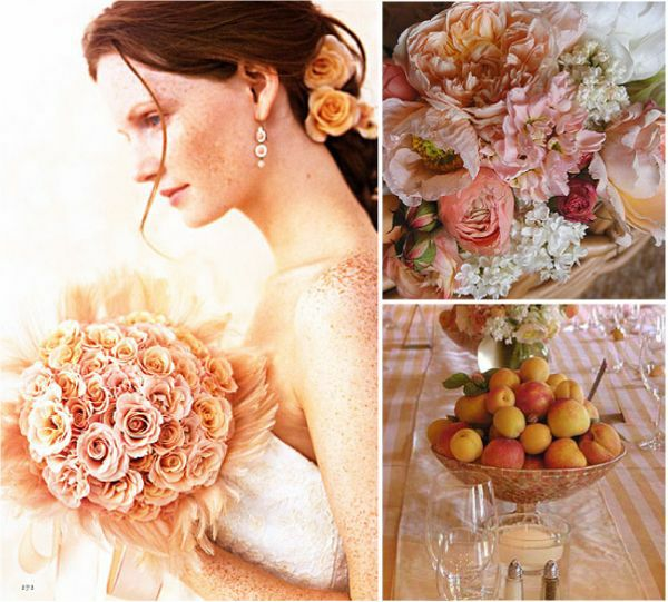 White Wedding Backdrop. Peach and White Wedding