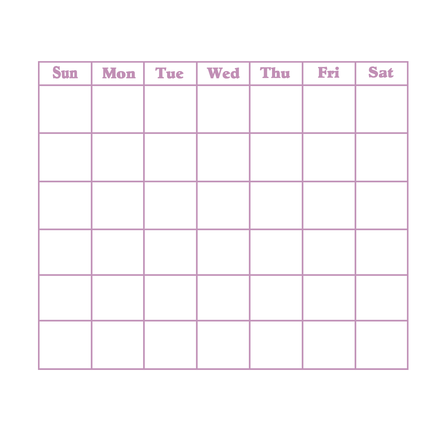 Pin Blank Calendar Pink And Purple Free Printable Downloads From on ...