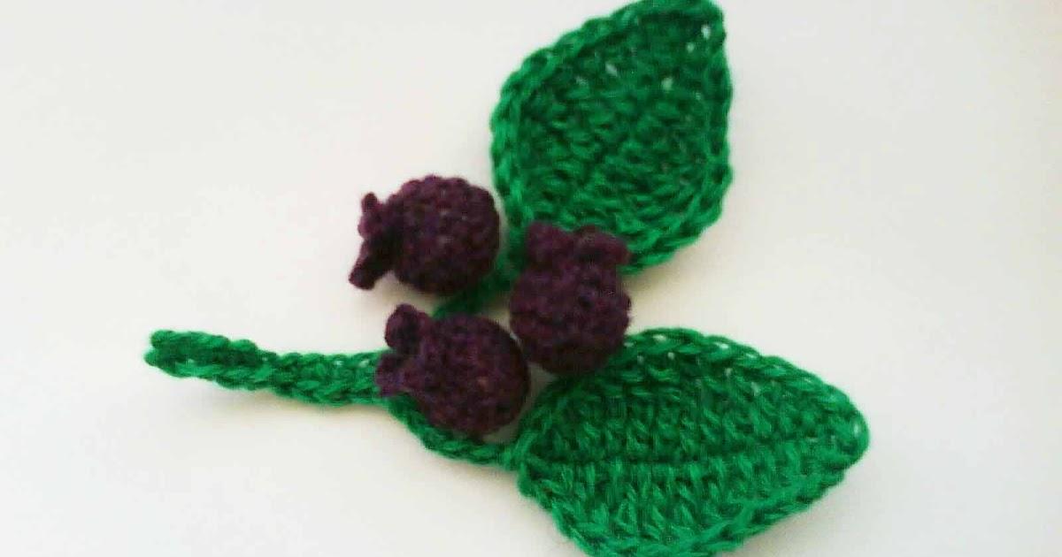 Onigiri Couple Amigurumi Free Crochet Pattern : HandmadeKitty: Amigurumi blueberries with branch leaves ...