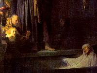 Rembrandt's depiction of the raising of Lazarus
