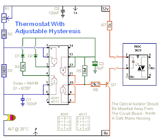 teknik dasar elektronik a thermostat with adjustable hysteresis rh mrsoax blogspot com Slave Thermostat Thermostat Controlled Relay Circuit