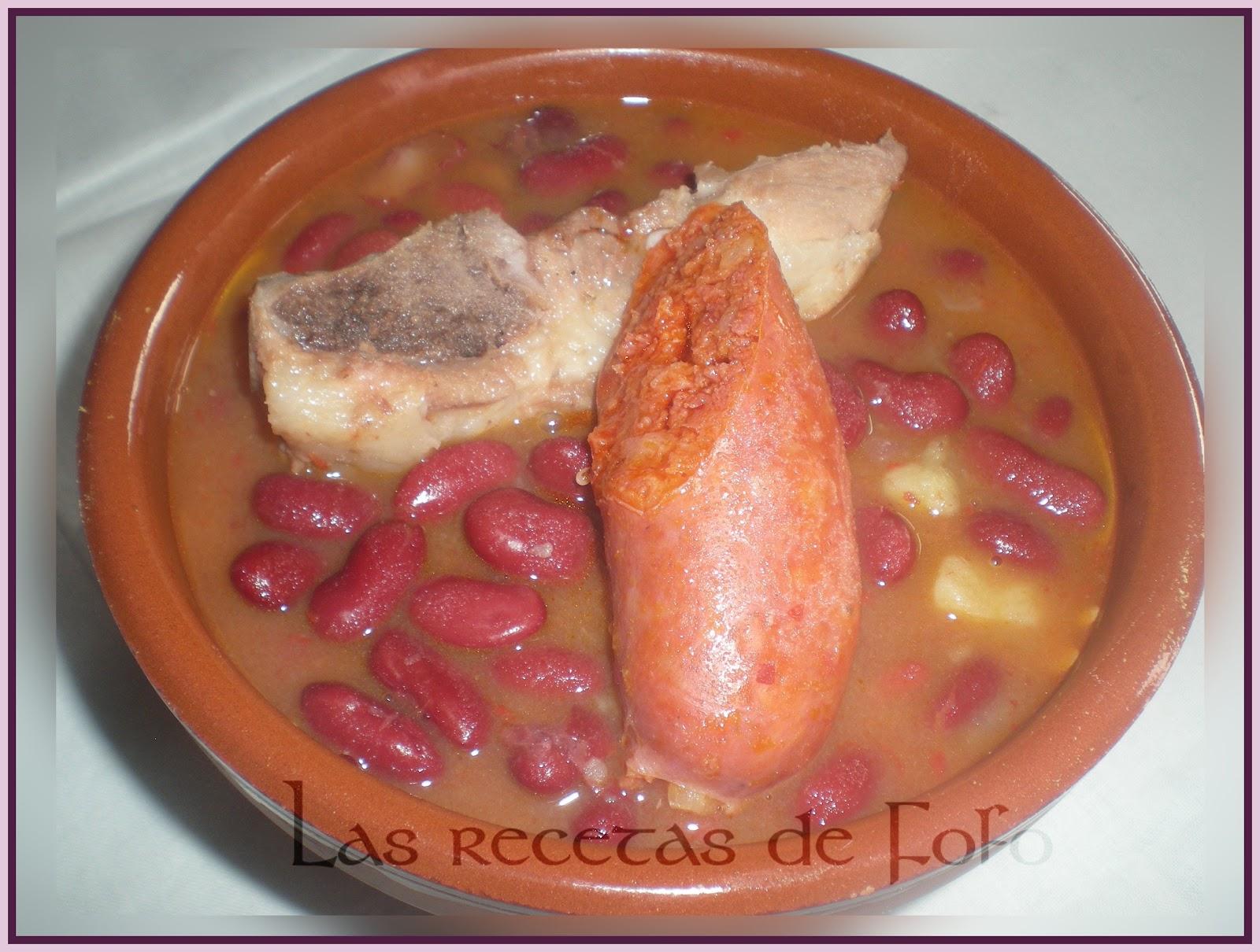 Las recetas de f fo potaje de alubias rojas express - Alubias rojas con costilla ...