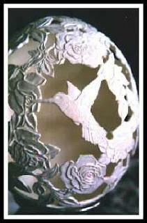 Yumurta kabu�undan sanat eseleri