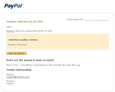 pembayaran neobux ke Paypal