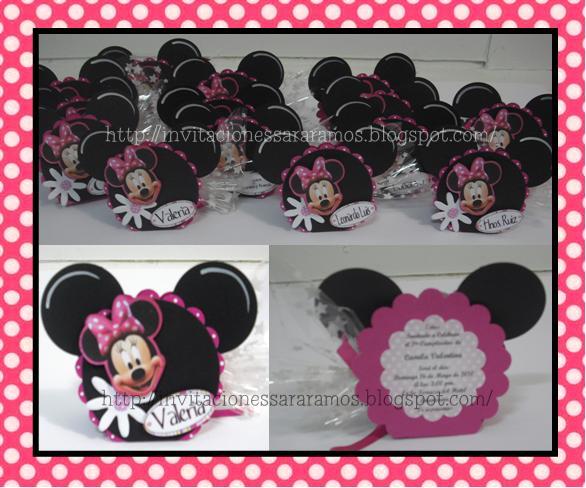Como Hacer Invitaciones De Minnie Mouse
