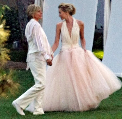 You are nobody until you are talked about portia de rossi for Portia de rossi wedding dress