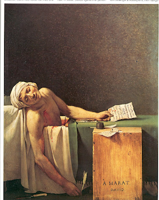 Jacques-Louis David, A morte de Marat, 1793