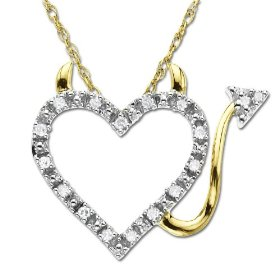 Heart Devil Diamond Pendant