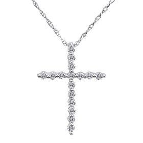 Prong Cross Pendant