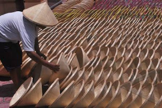 caping topi petani
