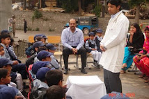Health Awareness camp at children's school in Kashmir
