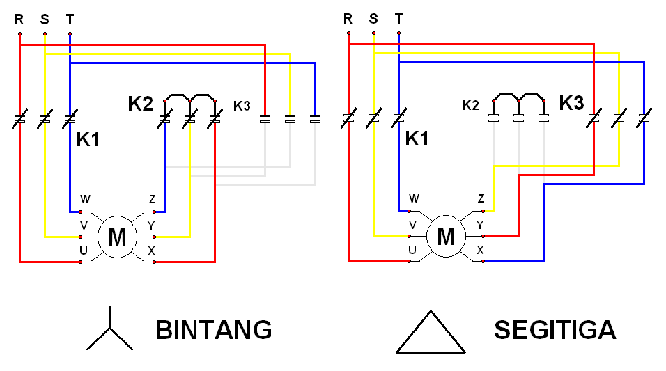 wiring diagram star delta bintang segitiga rh electric mechanic blogspot com Home Wiring Diagrams RV Wiring Diagram