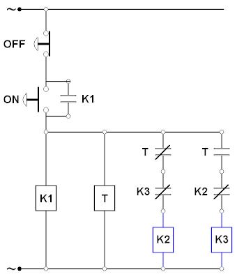 Rangkain Star Delta in addition Pengertian Star Delta Starting Motor also  on wiring diagram rangkaian dol