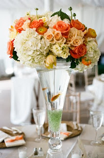 Elizabeth bailey weddings wedding and event planning in for Fish centerpieces wedding receptions