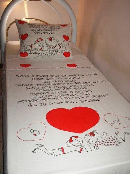 roupa de cama personalizada para namorado