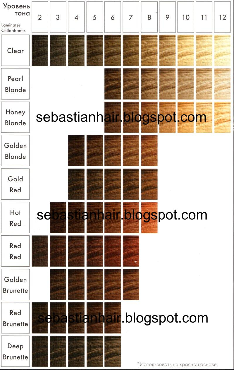 Sebastian Cellophanes Color Chart  Dark Brown Hairs