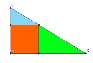 Triángulo con cuadrado