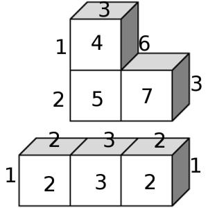 3-Policubos numerados
