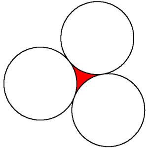 Tres circunferencias tangentes
