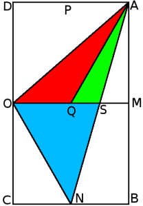 Triángulos en un rectángulo