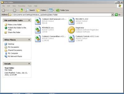 Applikasi untuk register file ocx+dll