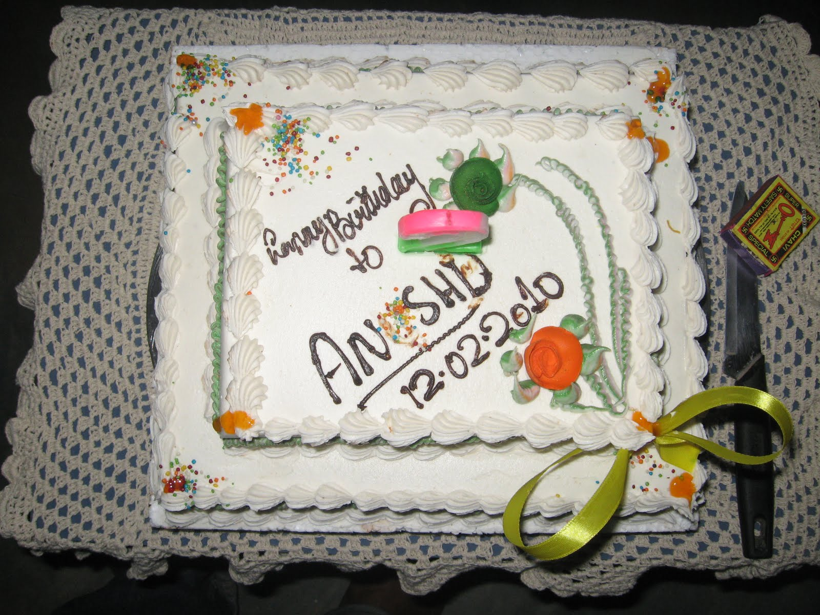Cake Images With Name Anshu : Anshu: My Second B day cake - Soo Yummyyyyyyyyy