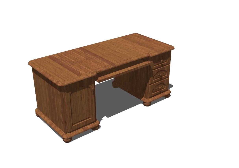 Classic Desk Sketchup Furniture Models