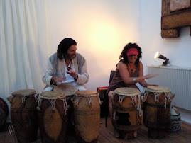 Dready drummers avin dredi fun