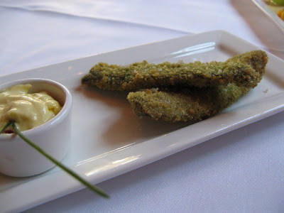 Wild garlic–encrusted BC herring